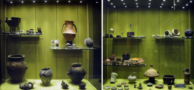Reperti esposti nell'Antiquarium Archeologico