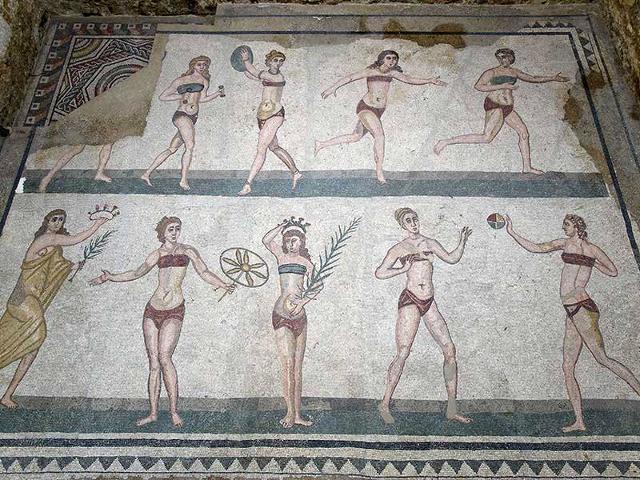 """Le """"palestrine"""" della Villa romana del Casale di Piazza Armerina"""