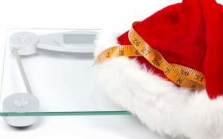 La fine delle feste pesa all'incirca due chili in più…