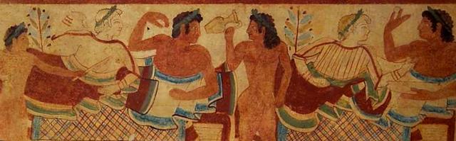 In terra italica, i primi estimatori della birra furono gli Etruschi...