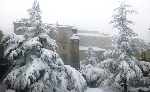 Petralia Soprana, dopo le abbondanti nevicate