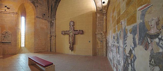 Una delle sale dell'abbazia di Santo Spirito di Agrigento