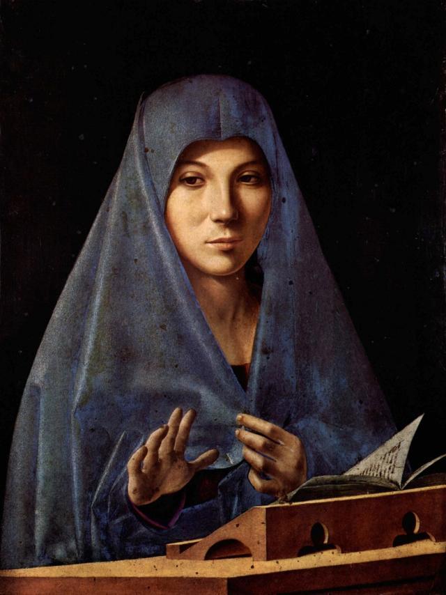 L'Annunziata di Antonello da Messina, esposta nella Galleria Regionale della Sicilia di Palazzo Abatellis - Palermo
