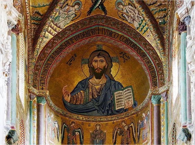 Il Cristo Pantocratore all'interno del Duomo di Cefalù