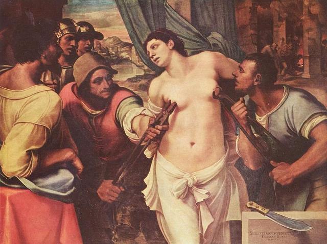 Il martirio di Sant'Agata in una tela di Sebastiano del Piombo