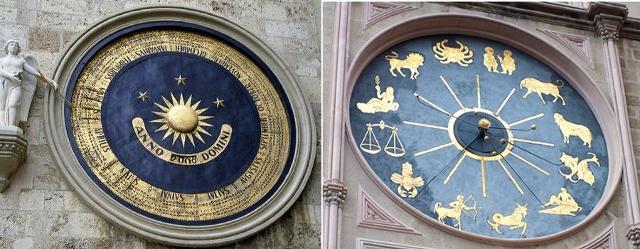Un particolare dell'Orologio Astronomico del Duomo di Messina, costruito dalla ditta Ungerer di Strasburgo nel 1933
