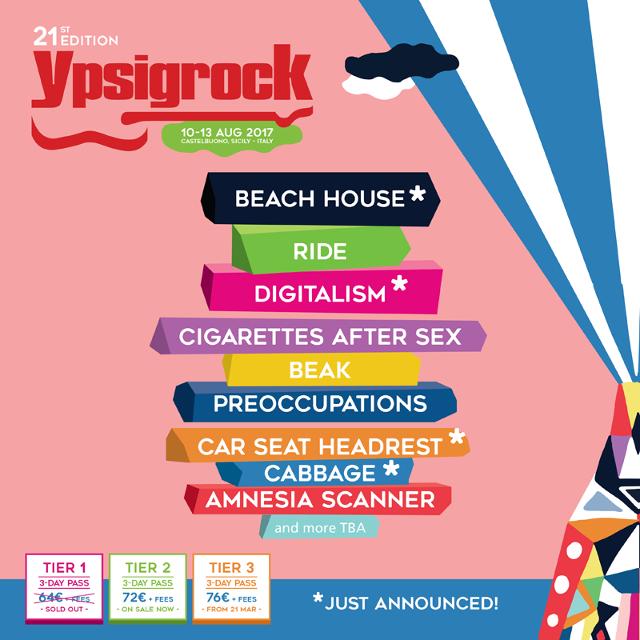 Ypsigrock annuncia altre nuove band della line up 2017