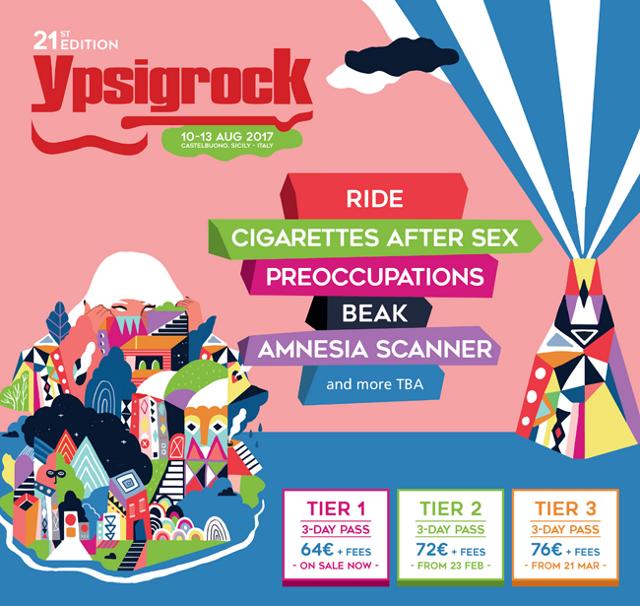 Ypsigrock Festival annuncia i primi nomi della line up 2017