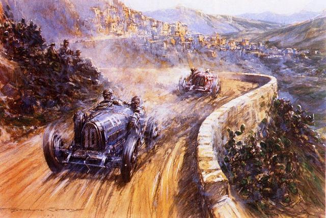 Un'illustrazione storica della Targa Florio