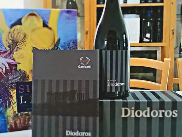 Il Diodoros è un vino prodotto con le uve a bacca rossa del vigneto posto sotto il Tempio di Giunone, in un'area demaniale data in gestione a CVA Canicattì dal Parco della Valle