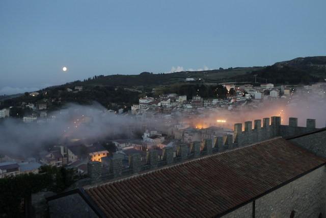 Il panorama di Montalbano Elicona visto dal castello
