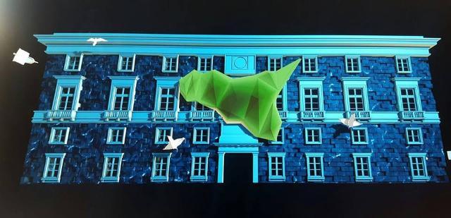 La Rinascita di Palermo nel video mapping a Palazzo delle Aquile