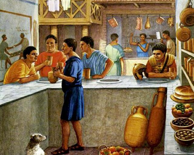 Così doveva presentarsi un mercato alimentare nell'antica Roma