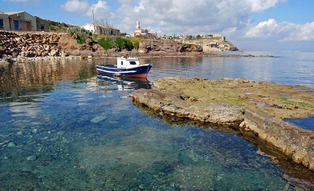 Veduta dell'antica tonnara di Portopalo di Capo Passero