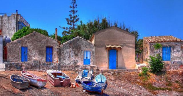 Casette di pescatori a Portopalo di Capo Passero