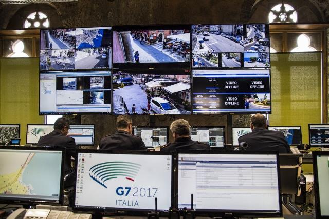 G7 Taormina. Quartier generale di controllo