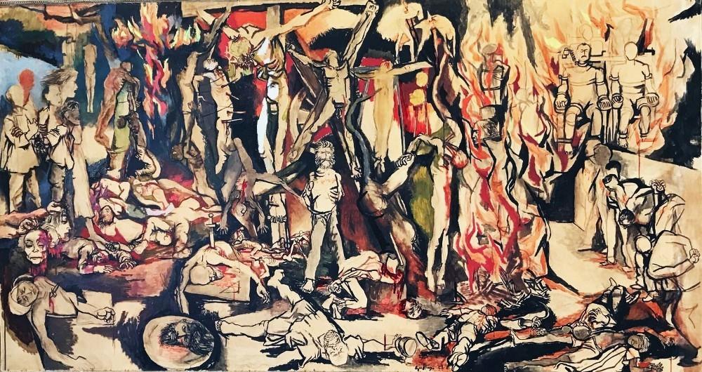 Rosso guttuso opere 1934 1978 fondazione lo verde la for Guttuso arredamenti
