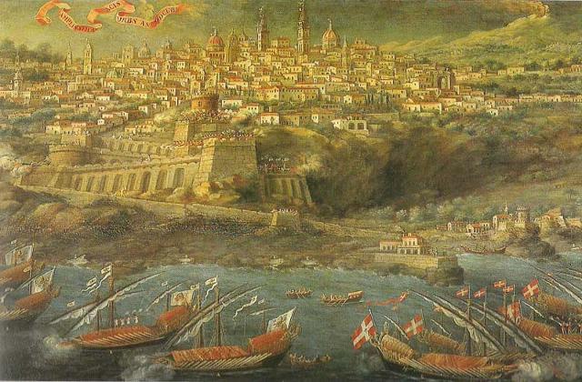 """""""Passaggio di don Redin ad Acireale"""" dipinto di Giacinto Platania del XVII secolo"""