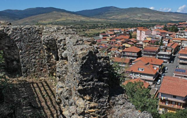 Maletto vista dal bastione del castello