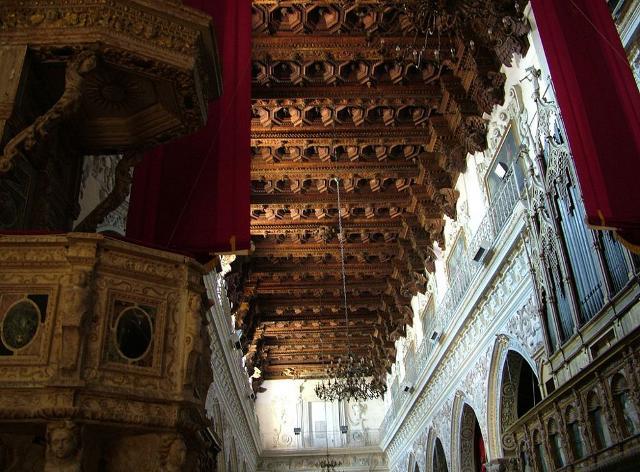 Il soffitto ligneo a cassettoni del Duomo di Enna