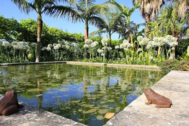 Le rane a guardia di uno specchio d'acqua nel Giardino di San Giuliano a Villasmundo