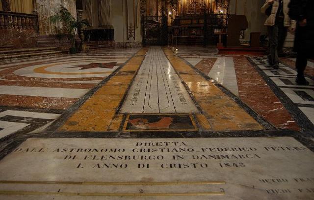 La meridiana del Duomo di Acireale realizzata da Christian Heinrich Friedrich Peters