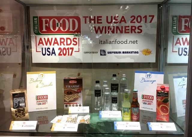 La vetrina dei prodotti premiati all'Italian Food Award USA 2017