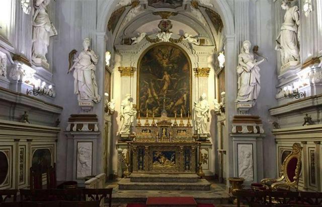 Altare dell'Oratorio di Santa Caterina d'Alessandria all'Olivella