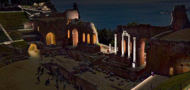 Il Teatro Antico di Taormina illuminato da iGuzzini