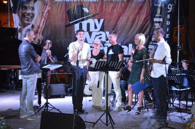 La premiazione di Manfredi Messina, vincitore della IX edizione del MY Way Festival