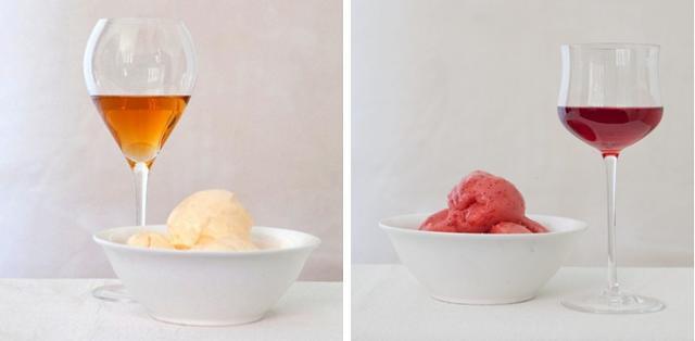 Ai gelati alla frutta si può abbinare un vino con un residuo zuccherino che richiami aromi e profumi della preparazione che si va a gustare.
