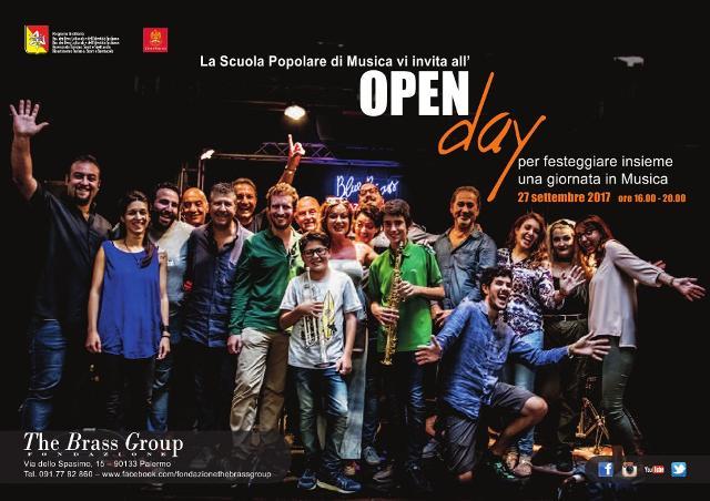 Siete tutti invitati all'open day  della Scuola Popolare di Musica The Brass Group!