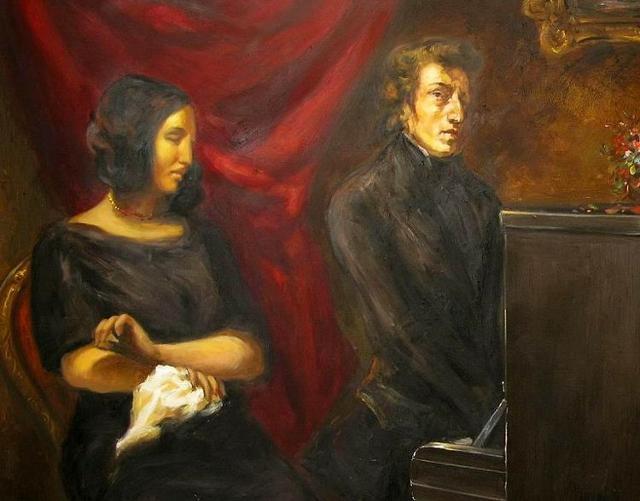 """""""Ritratto di Frédéric Chopin e George Sand"""" di Eugène Delacroix"""