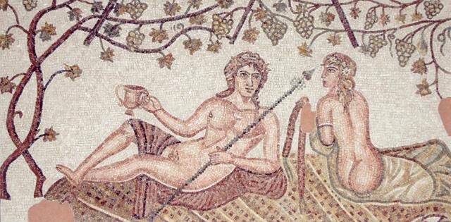 Mosaico romano raffigurante Bacco e Arianna