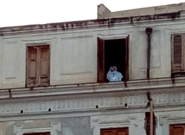 A Palermo c'era quella sagoma di Papa Francesco