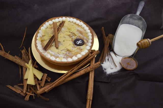 Una speciale torta al formaggio Ragusano Dop della storica Pasticceria Di Pasquale di  Ragusa, una rivisitazione in chiave iblea della nota cheese cake americana