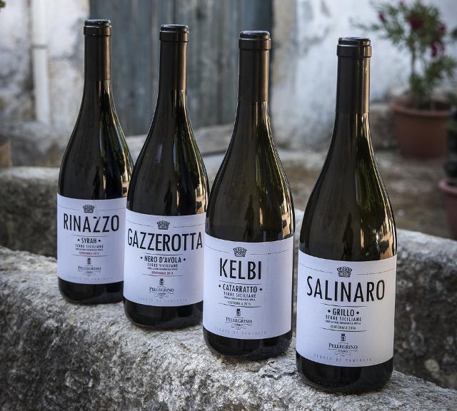 Alcuni dei tanti vini delle Cantine Pellegrino