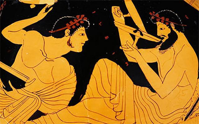 La presenza del vino nelle mense della Grecia Antica era simbolo di prestigio sociale...