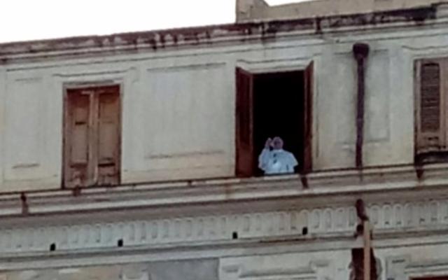 A Palermo c'era quella ''sagoma'' di Papa Francesco