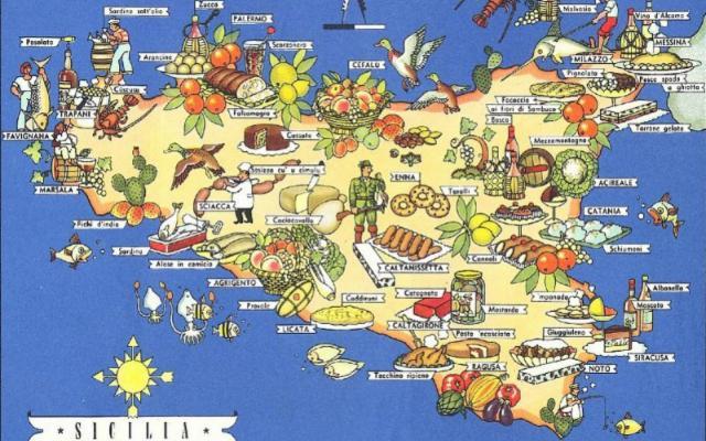 In viaggio, dall'antipasto al dolce… Più che una mappa un menù!