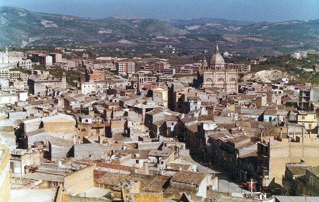 Un panorama di Favara