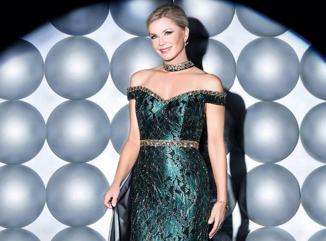 Katherine Kelly Lang la Brooke della soap Beautiful testimonial di Impero Couture