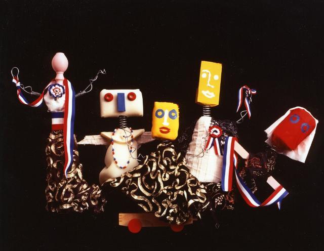 Marionette realizzate da Enrico Baj esposte al Museo internazionale delle marionette Antonio Pasqualino