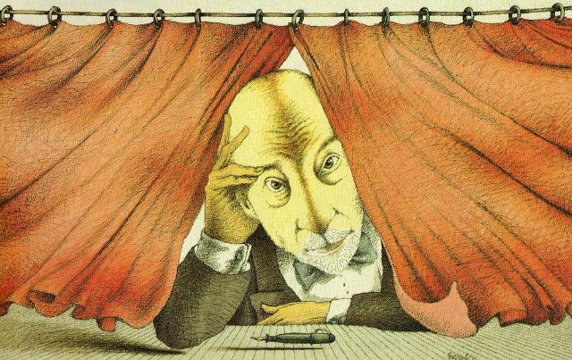 Luigi Pirandello in una illustrazione di Tullio Pericoli