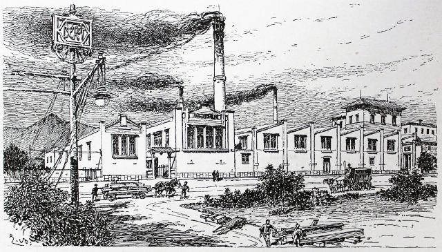 Il mobilificio Ducrot in un disegno di Ernesto Basile, l'architetto che collaborò con la fabbrica palermitana nella produzione di arredi artistici