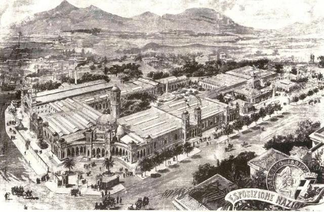 Una stampa storica dell'Esposizione Nazionale di Palermo, aperta dal 15 novembre 1891 al 5 giugno 1892