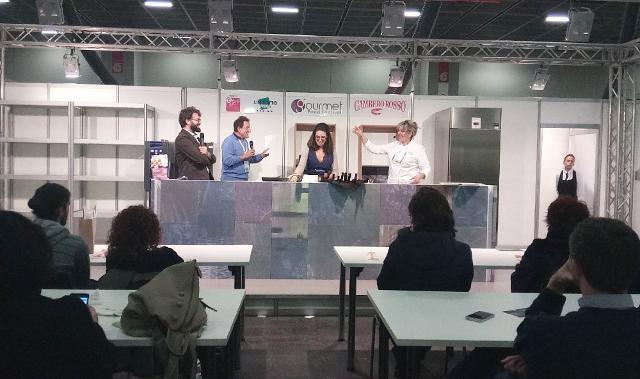 Lo show cooking condotto dallo chef Bonetta dell'Oglio