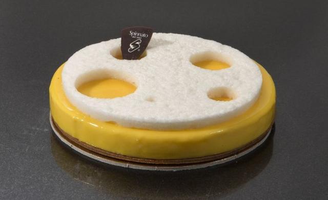 Una delle torte preparate da Maurizio Santin per l'Antico Caffé Spinnato di Palermo