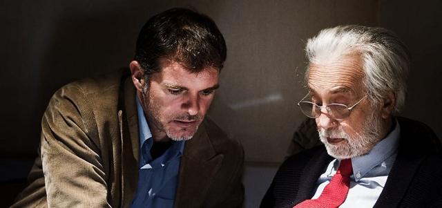 Stefano Massini con il regista Luca Ronconi