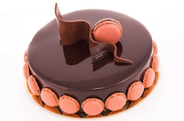 Una torta del pasticcere Carmelo Sciampagna dell'omonima pasticceria di Marineo (Pa)